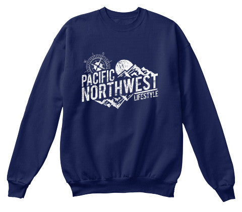 Pacific NorthWest Rugged Adventure Crewneck Sweater - Pacific NorthWest Lifestyle