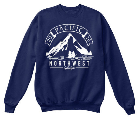 Pacific NorthWest Vintage Mountain Crewneck Sweater - Pacific NorthWest Lifestyle