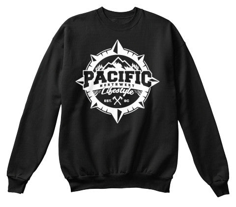 Pacific NorthWest Compass Crewneck Sweater - Pacific NorthWest Lifestyle