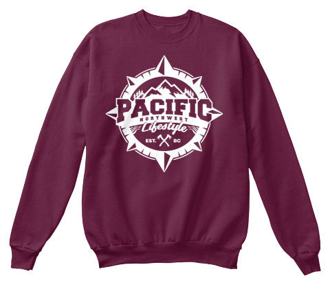 Pacific NorthWest Lifestyle Unisex Compass Crew