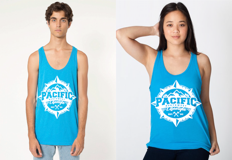 Pacific NorthWest Compass Tank Tops
