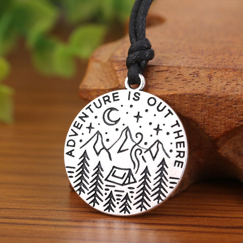 Adventure Is Out There Gold & Silver Necklace - Pacific NorthWest Lifestyle