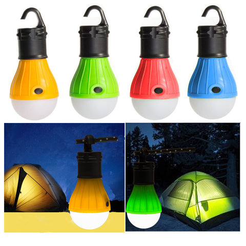 Mini Portable Lantern Tent Light LED Bulb Emergency Lamp Waterproof Hanging Hook Flashlight For Camping 4 Colors Use 3*AAA - Pacific NorthWest Lifestyle