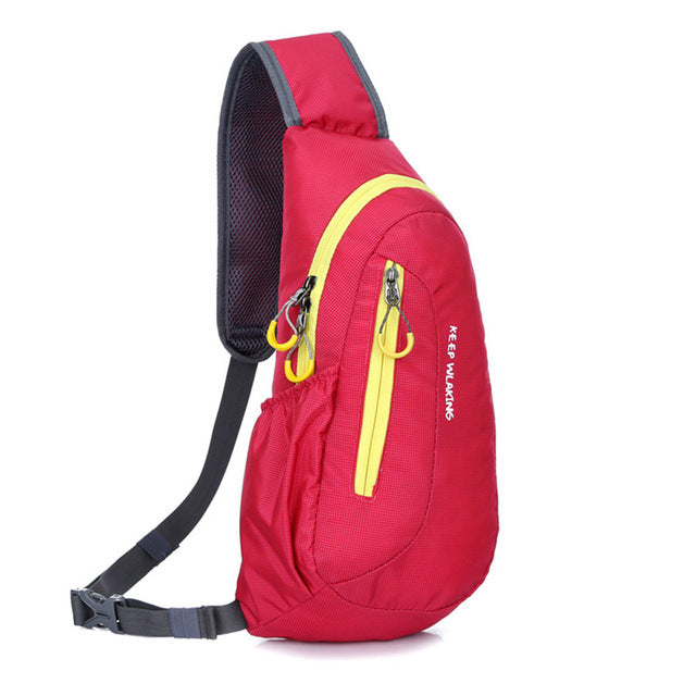 f97d50e5ba ... 4 Colors Sport Backpacks Waterproof Outdoor Travel Backpack Package  Chest Bag for Women Men Shoulder Rucksack ...