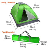 Lightweight 2 Person Camping Backpacking Tent With Carry Bag - Pacific NorthWest Lifestyle