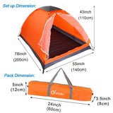 Lightweight 2 Person Camping Backpacking Tent With Carry Bag