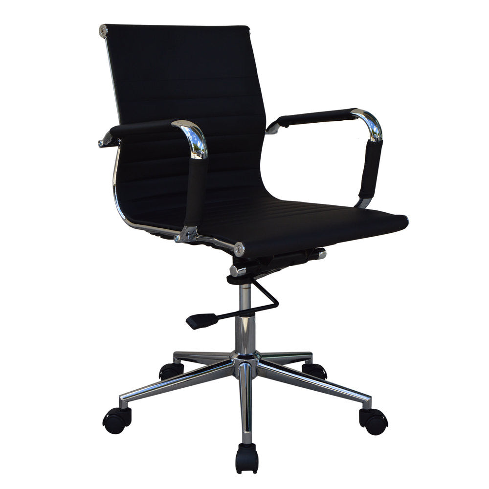 Mid-Back Black Executive Office Chair