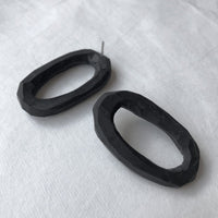 Big oval polymer earrings / עגילי אליפסה - studio oh design