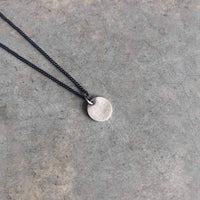 10mm Silver Coin Disk Necklace