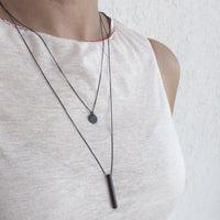 10mm Silver Coin Disk Necklace - studio oh design
