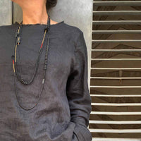 One of a kind Long BOHO necklace / שרשרת בוהו ארוכה - studio oh design