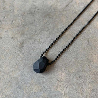 Black Beetle Necklace / שרשרת חיפושית - studio oh design