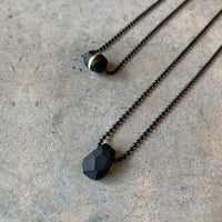 Black Beetle Necklace