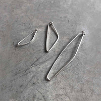 "6 CM safety pin earring / UNISEX / עגיל סיכת בטחון 6 ס""מ - יוניסקס - studio oh design"