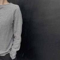 black and white Checked top /  חולצת משבצותשחור לבן - studio oh design