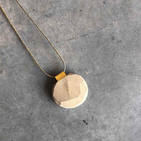 Wheat Flat circle Necklace - studio oh design