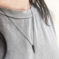 silver Mini Spike necklace - Unisex - studio oh design