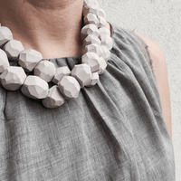 Multi Layered Beaded necklace / שרשרת חרוזים כפולה - studio oh design