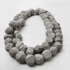 Multi layered beaded necklace Gainsboro