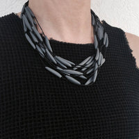 Multi layered Necklace Grey double