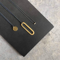 "GOLD PLATED Big ""O"" necklace - Unisex - studio oh design"