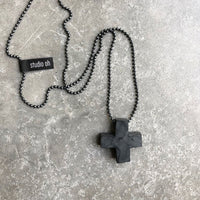 Plus necklace - unisex - studio oh design