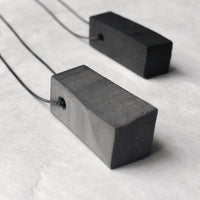 Rectangle necklace black and grey