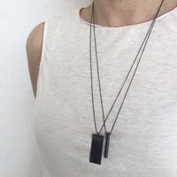 Silver Dog Tag Necklace - unisex - studio oh design