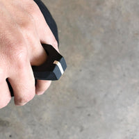 silver line polymer ring / טבעת פס כסף - studio oh design