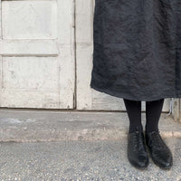 Dark gray linen skirt / חצאית פשתן באפור כהה - studio oh design