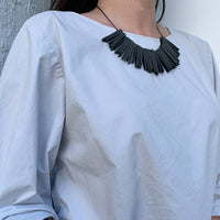 sun necklace black