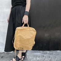large tyvek bag - camel - studio oh design