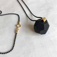 gold plate ball necklace