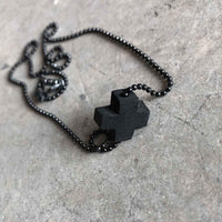 Tiny Plus necklace / שרשרת פלוס קטן - studio oh design