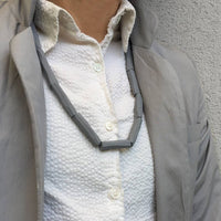 Tubes Necklace grey