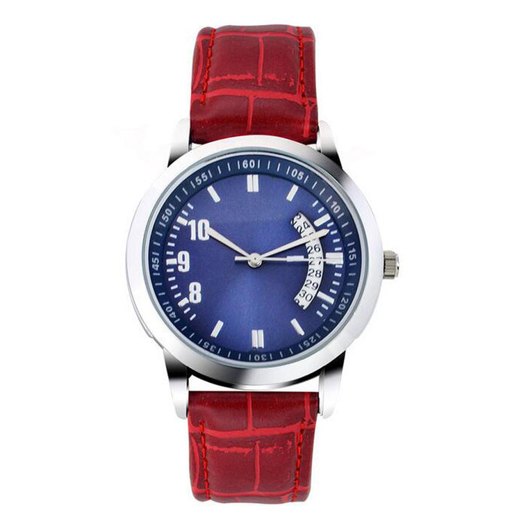men s watches upspiritwatch british style fashion simple men genuine leather strap quartz watch calendar male wristwatches red black