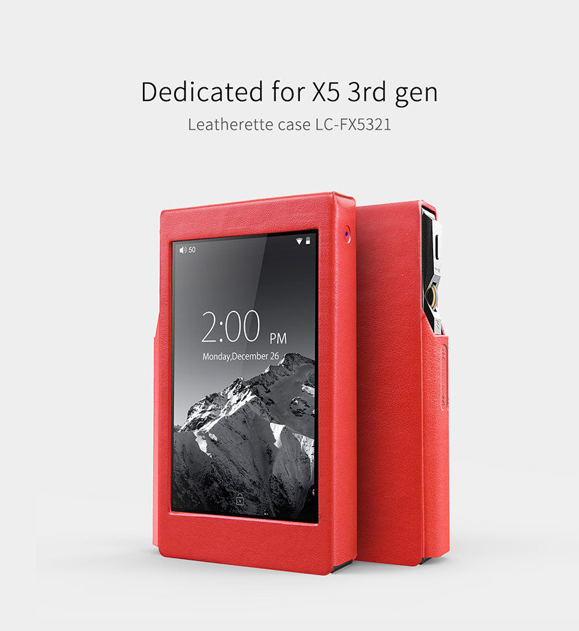 FiiO introduces the Red Leatherette Case LC-FX5321 for X5 3rd gen