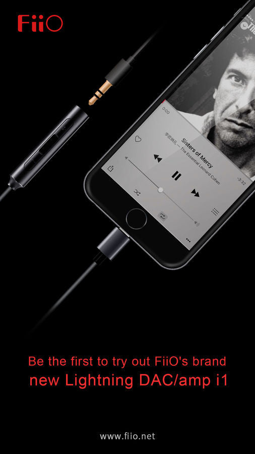 Be the first to try out FiiO's brand new Lightning DAC/amp i1!!!