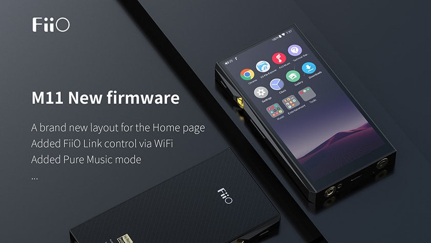 FiiO releases the new firmware FW1.0.6 for M11, new added FiiO Link control via WiFi function