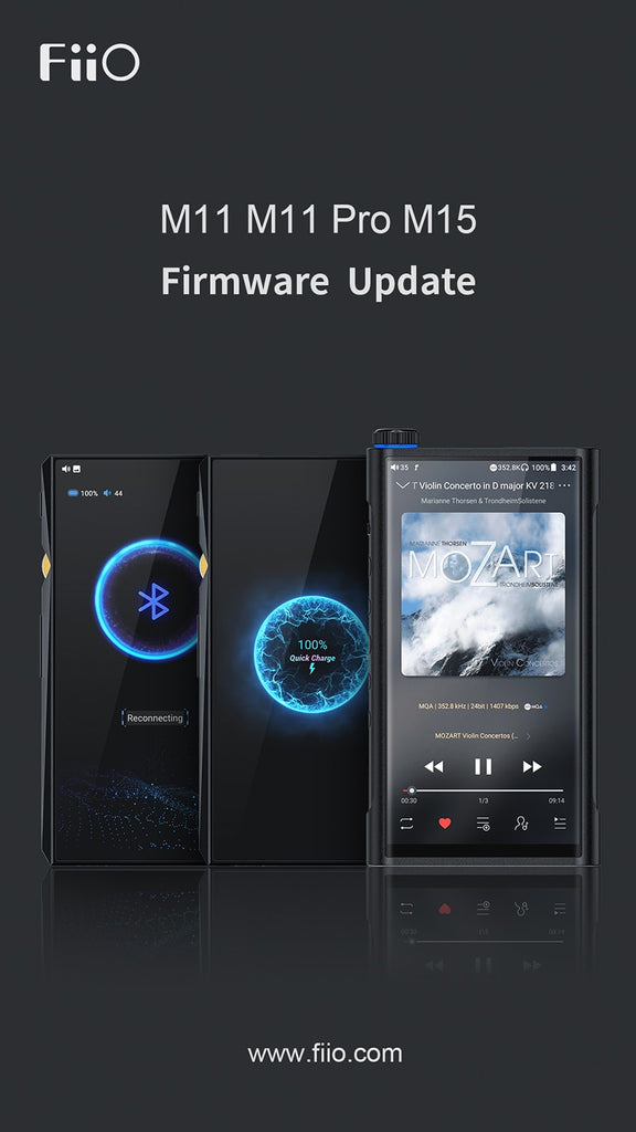 [New firmware] New added global MQA support, the new firmware for M11/M11PRO/M15 is now available!