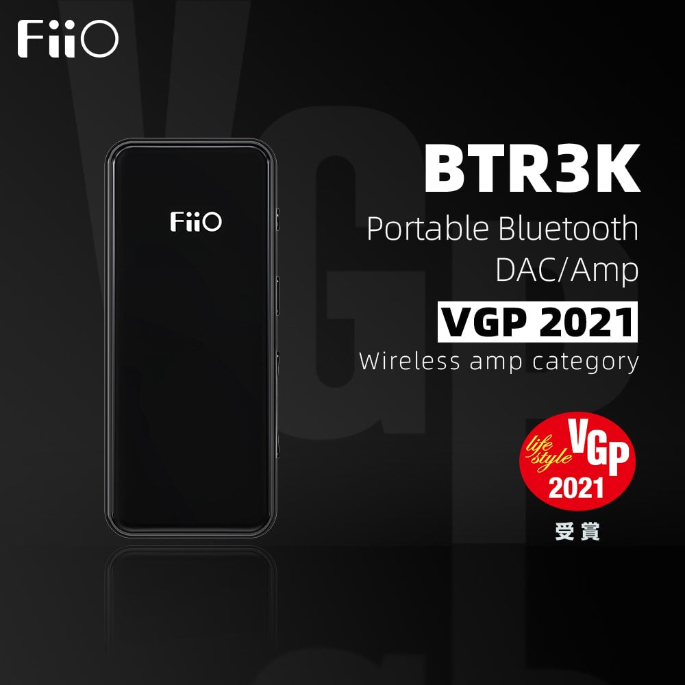 9.Amp category VGP Award: BTR3K  The BTR3K has applied 2 efficient DACs AK4377A. Whichever the single-ended or balanced output, the 2 DACs will work at the same time. Additionally, it is designed with the 22.5792M/24.576M crystalline oscillators. With both the 3.5 single-ended and 2.5 balanced headphone outputs, the BTR3K has made a great progress in specifications and sound performance.
