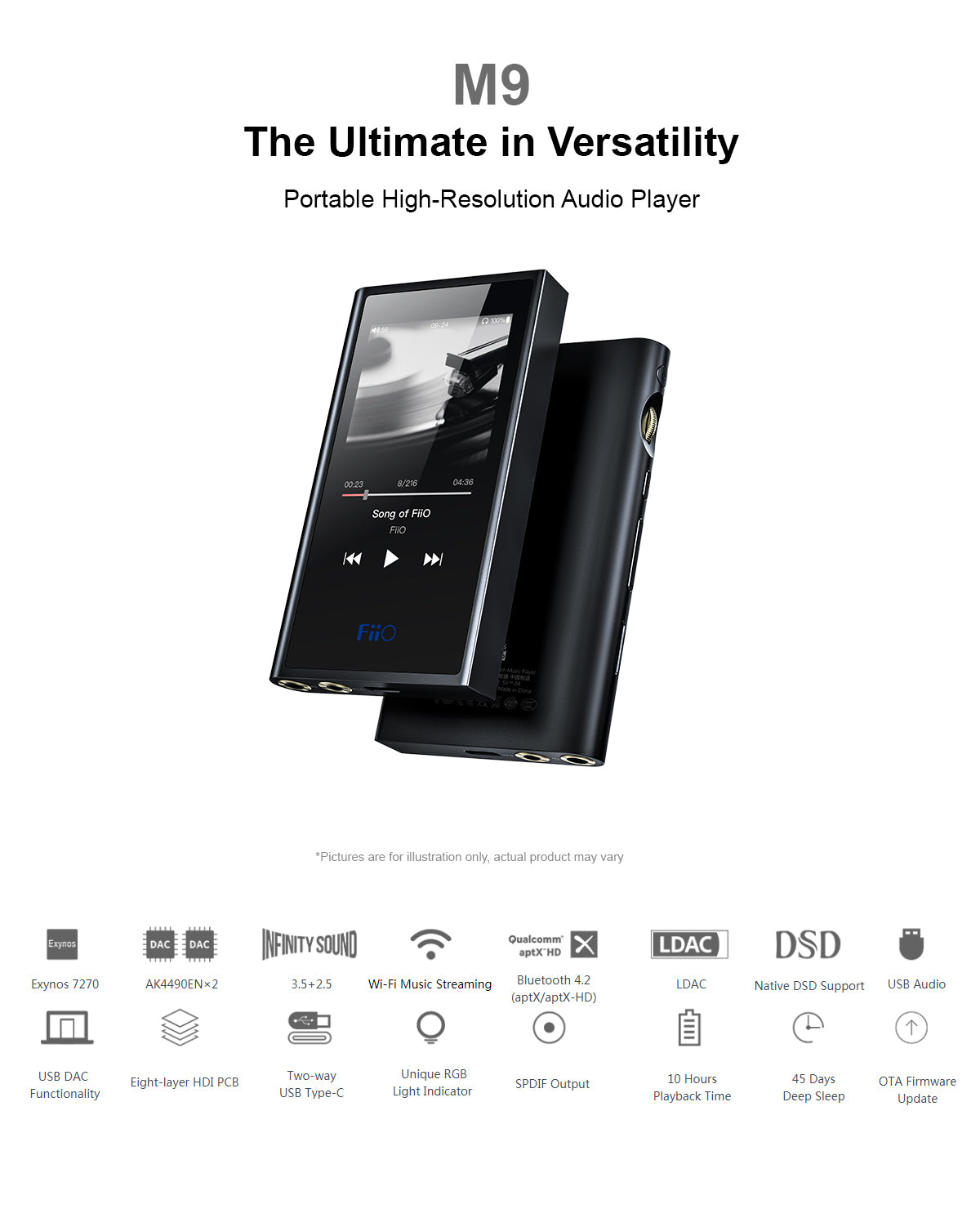 FiiO M9 Portable High Resolution Audio Player – FiiO India