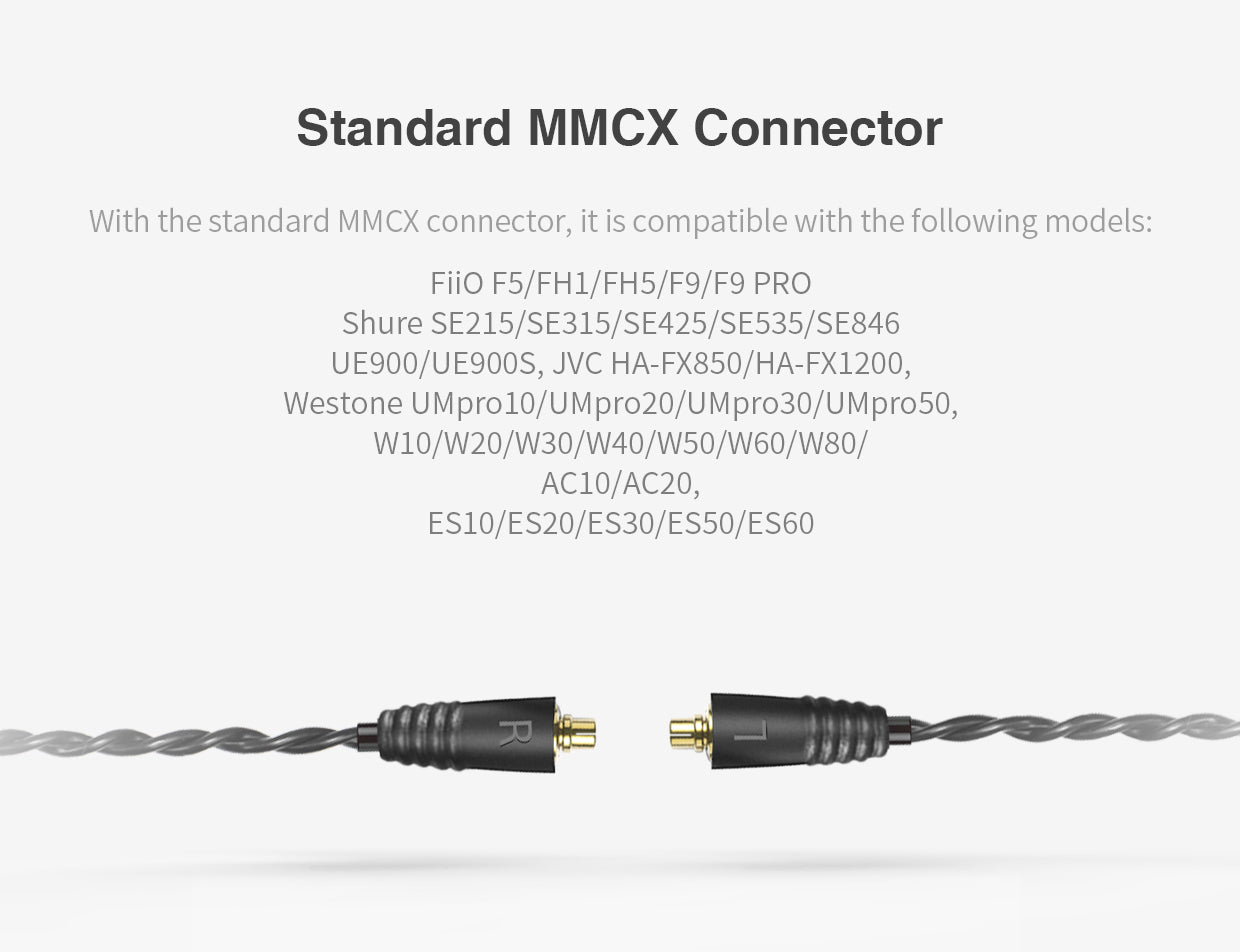 FiiO RC-MMCX1s LC-3.5AS Earphone Replacement Cable