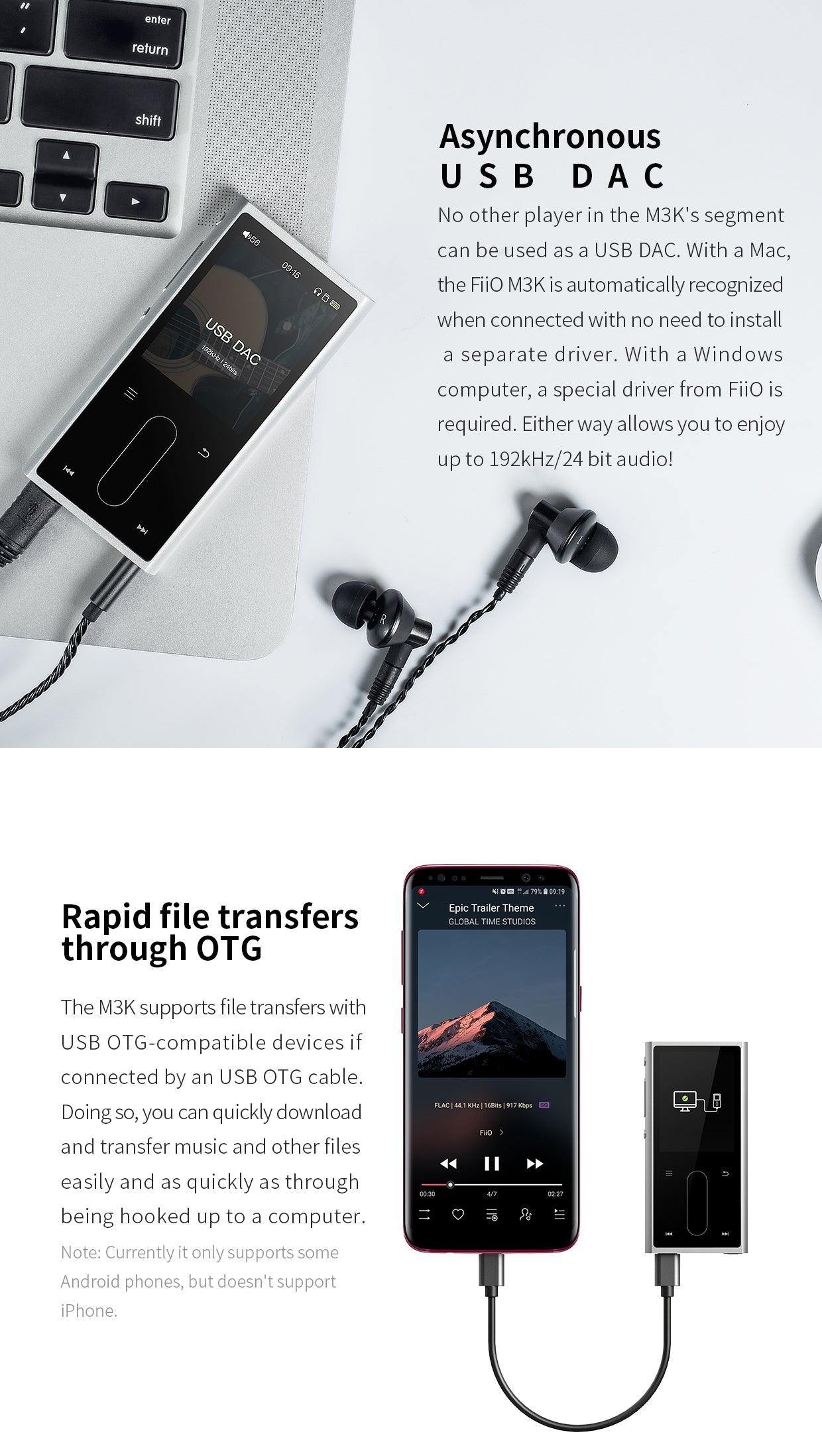 FIIO M3K Lossless Portable Digital Music Player