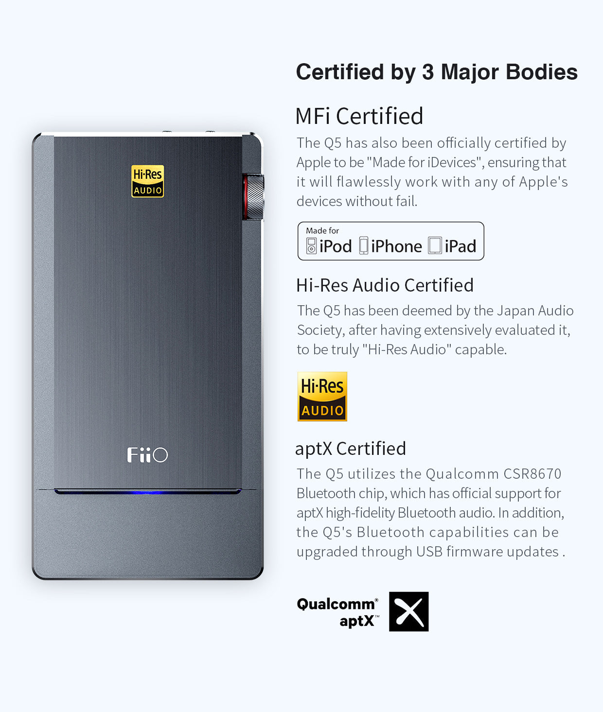 FiiO Q5 Bluetooth and DSD-Capable DAC & Amplifier