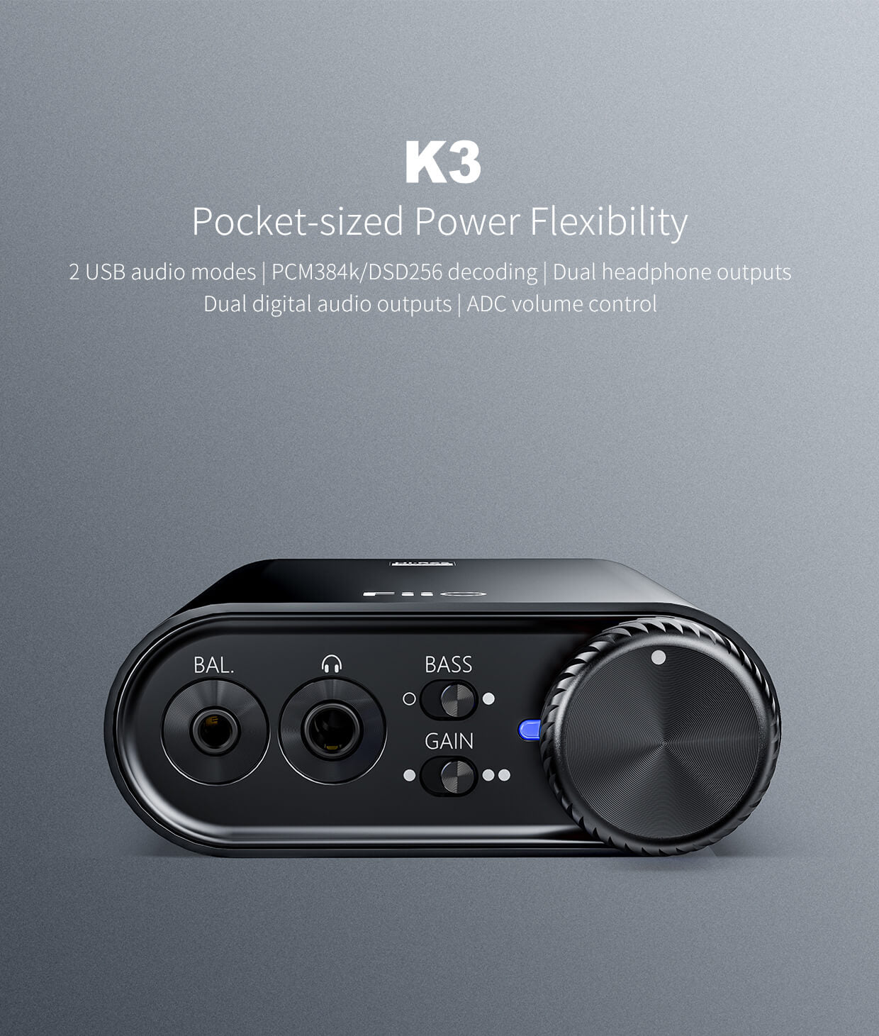 FiiO K3 Portable Headphone Amplifier & USB DAC