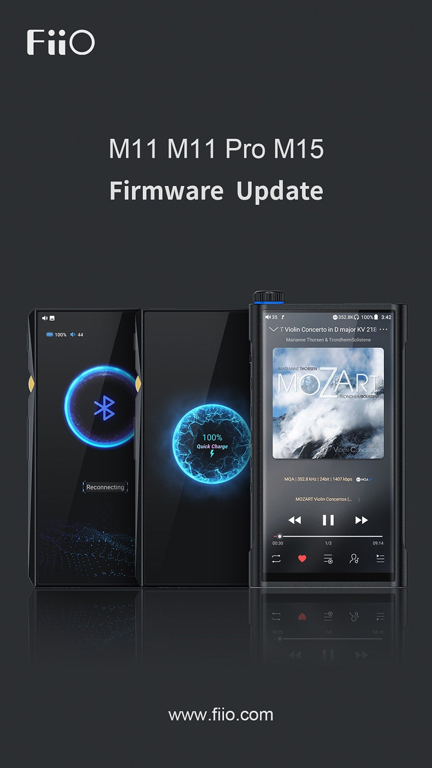[New firmware] New added global MQA support, the new firmware for M11/M11PRO/M15 is now avialable!