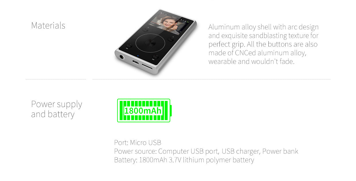 FiiO X1 2nd Gen High Resolution Lossless Music Player Specifications