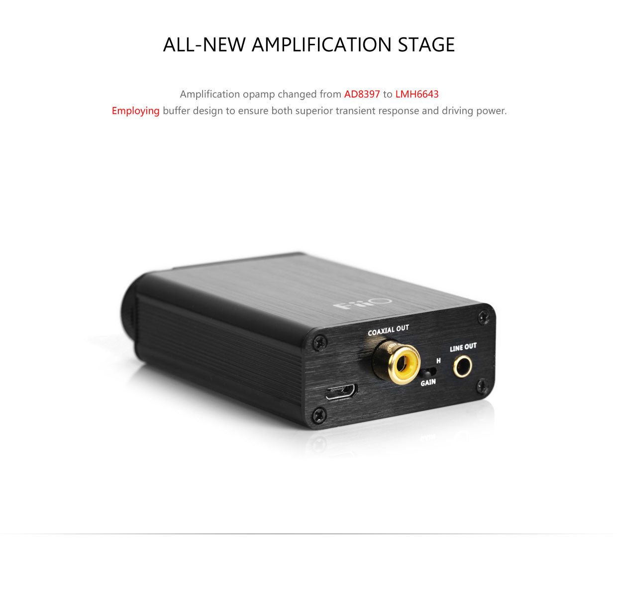 FiiO E10K USB DAC Headphone Amplifier