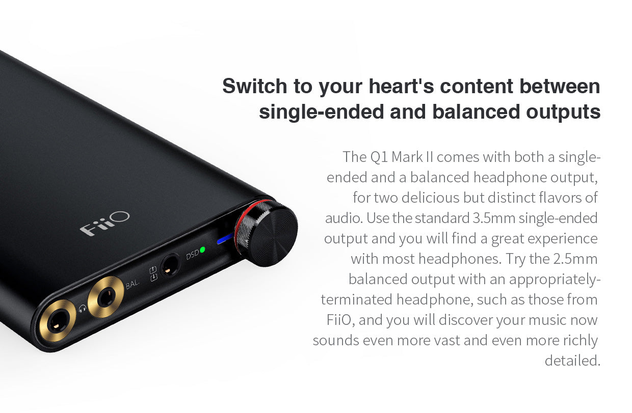 FiiO Q1 Mark II Portable Amplifier & DAC